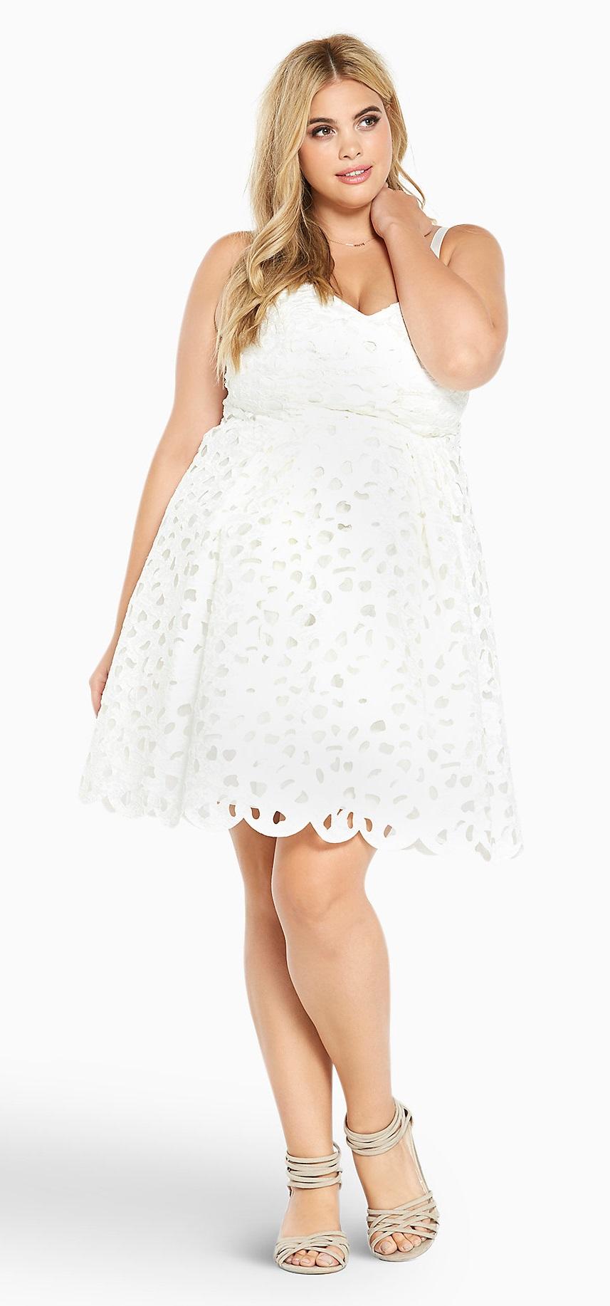 Plus Size White Party Dress 3 Alexa Webb