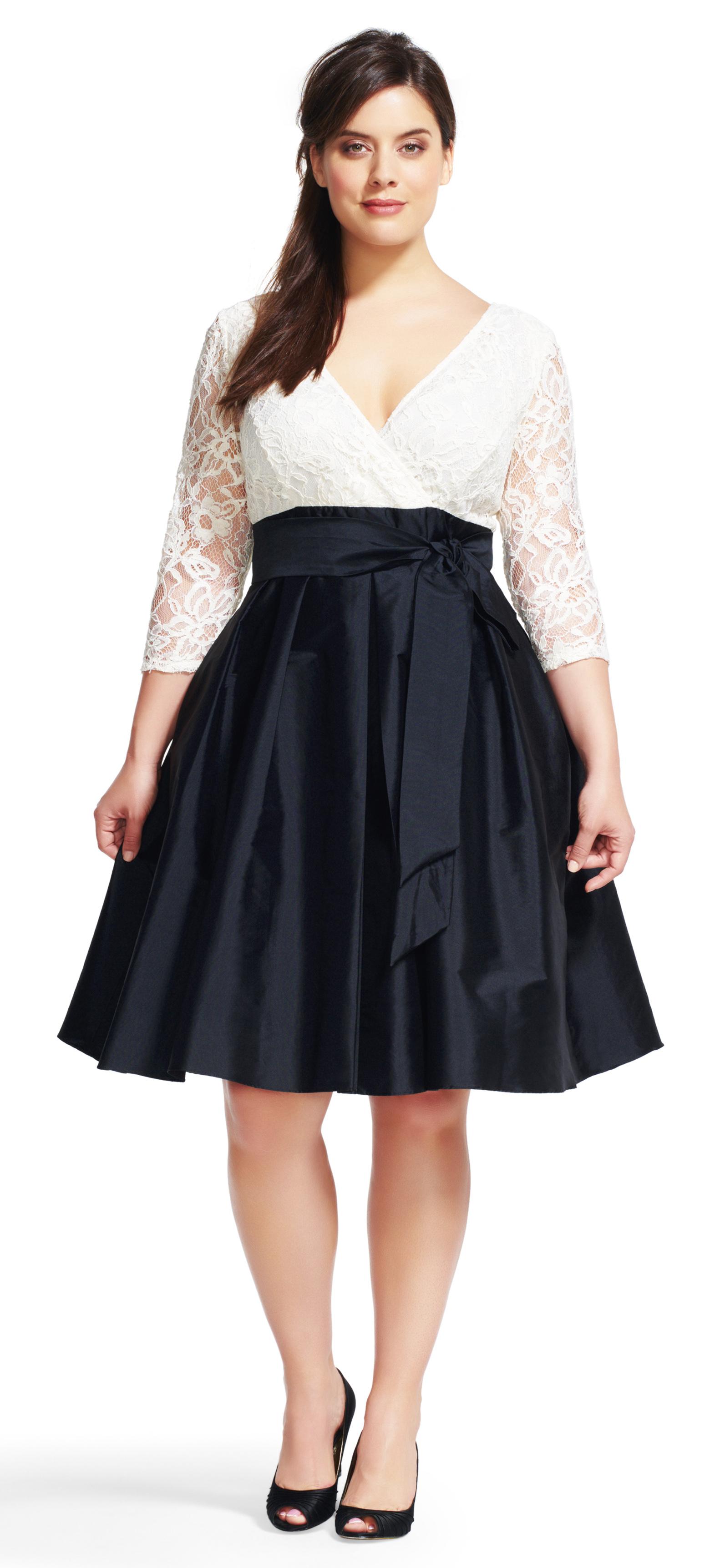 Plus size wedding guest dress sleeves alexawebb 217 13 for Plus size dresses wear guest wedding