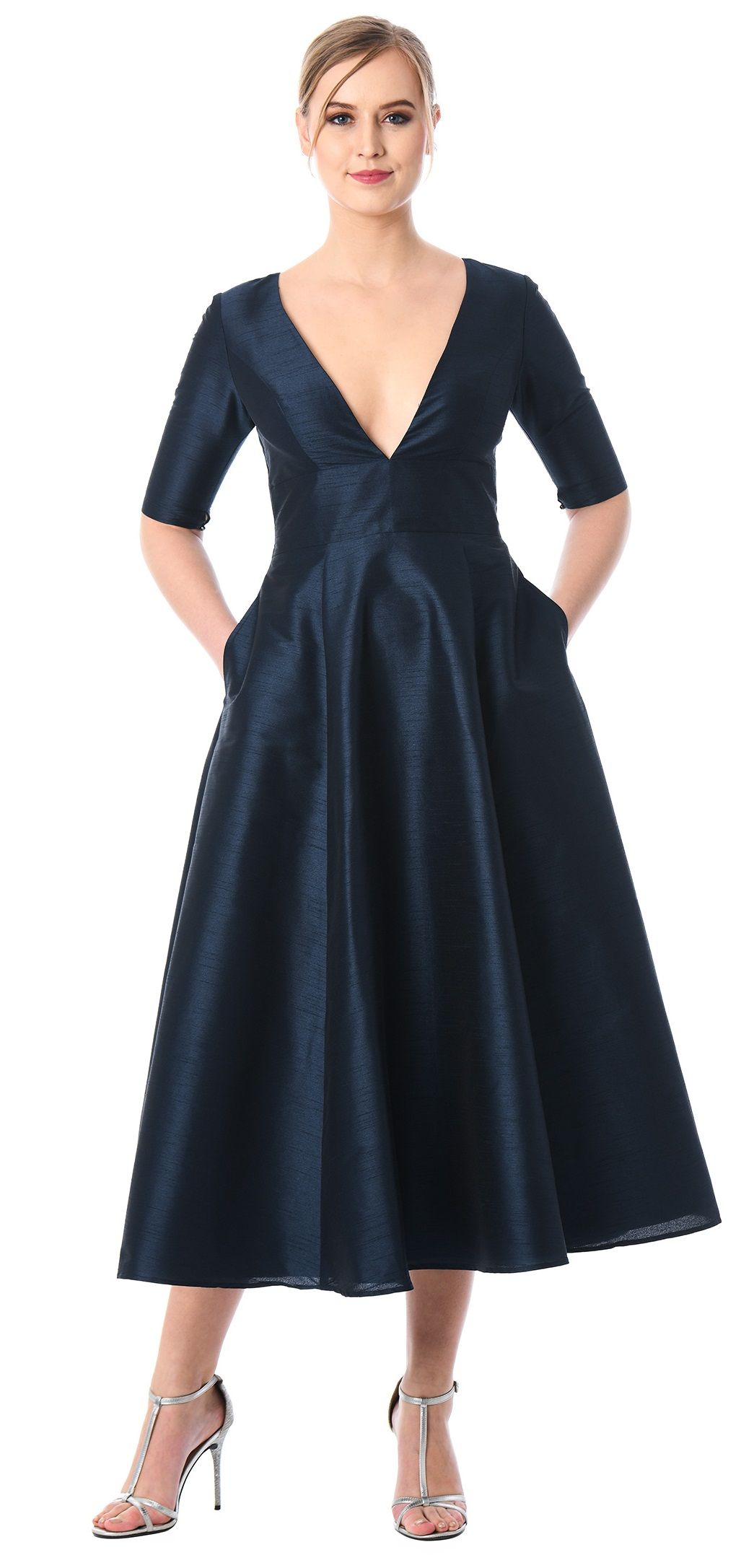 Plus Size Summer Wedding Guest Dress Sleeves Alexawebb 518