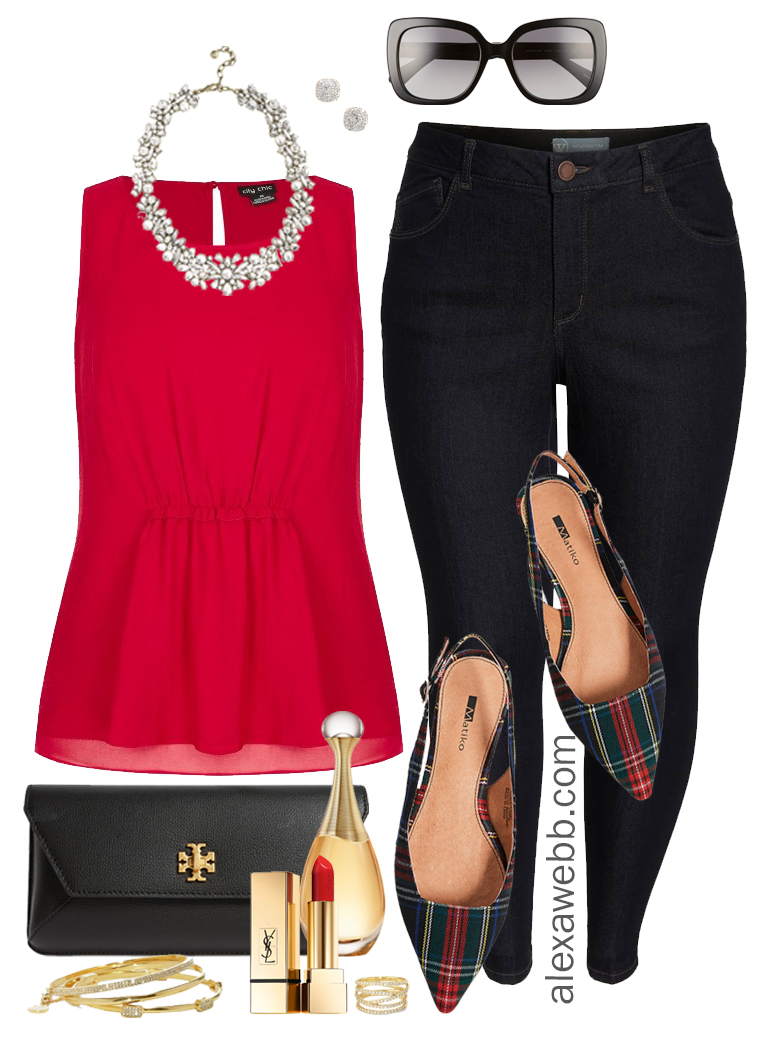 2610742b72e94 plus-size-christmas-red-blouse-outfit-alexawebb-1118. Published on November  30