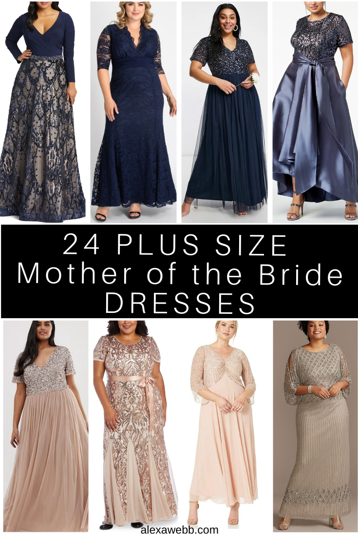 20 Plus Size Mother of the Bride Dresses with Sleeves   Alexa Webb